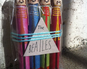 The Beatles Peg Dolls Sgt. Pepper's Lonely Hearts Club Band Collectables Peg People John Lennon Paul McCartney George Harrison Ringo Starr