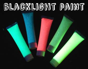 5-pack of Novelty UV Glow and Black Light Paint:  1 oz. tubes Rave Paint  Glow Run paint