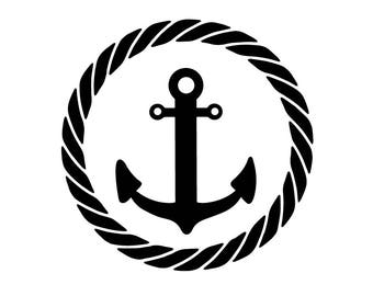 Anchor with a rope DECAL