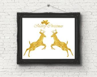 Christmas deer wall decor, christmas deer digital, christmas deer images, deer digital download, deer decor boys room, christmas deer figure