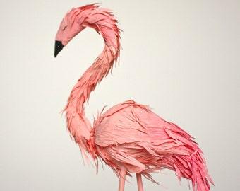 flamingo cake topper - single