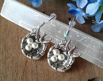 Bird On A Nest Earrings