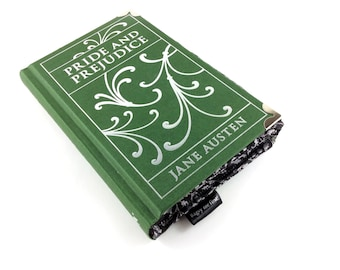 """Pride and Prejudice Purse, Jane Austen Purse, Jane Austen gift, Book purse, """"I declare after all there is no enjoyment like reading!"""""""