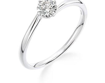 1/3 carat platinum diamond solitaire ring