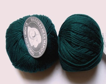 5 balls-wool bottle green cashmere 325