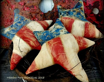 MADE TO ORDER Patriotic Star Bowl Fillers-Primitive Handcrafted Americana Folk Art-Ornies-U.S.A.-Independence Day-America-4th of July