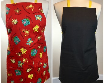 Children's Reversible Pokemon Cooking/Crafting/Gardening Apron