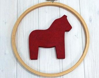 Felt Dala Horse, 8 pieces - Scandinavian Crafts - Wool Blend Felt - Die Cut Felt Shapes