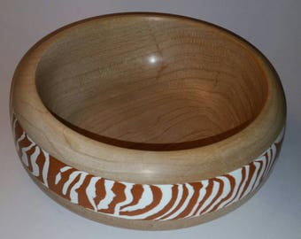 Maple Bowl with Milliput Inlay