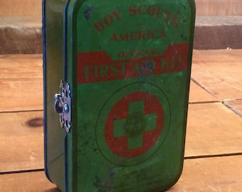 Vintage Boy Scouts of America First Aid Kit-Medical-Gifts for Eagle Scout-Gifts for Dads-Gifts for Grads