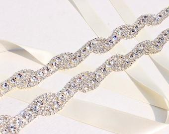 Bridesmaids Belt Thin wedding belt Thin Crystal Rhinestone Belt Rhinestone Bridal belt Bridal headband Wedding Belt  Bridal Sash belt