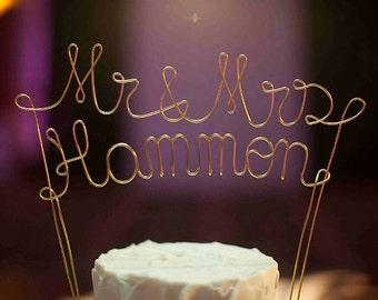Personalized Mr & Mrs NAME Wedding Cake Topper, Personalized Wedding Cake Decoration, Wedding Cake Decoration, Personalized Cake Topper