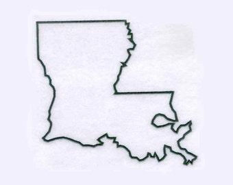 Louisiana State Tea Towel | Embroidered Kitchen Towel | Embroidered Towel | Personalized Kitchen Towel | Embroidered Tea Towel | Hand Towel