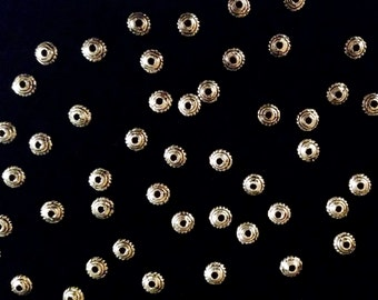 50 Teeny Tiny Antiqued Silver Tone Alloy Spacer Beads