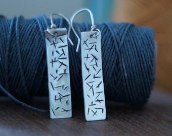 Dangle earrings - sterling silver earrings - modern earrings - geometric earrings