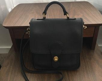 90's Coach Station Bag Black