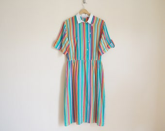 Vintage 1960s Striped Dress