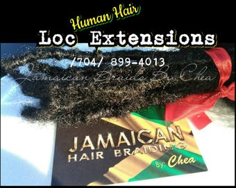 Handmade Dread Extensions with Human Hair