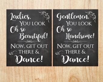 Wedding Bathroom Signs PRINTABLE wedding sign  ladies look oh so beautiful digital instant download decor