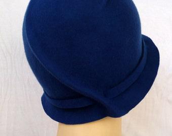 NEW!!! Cloche hat, 20s hat, 20s style hat, Felt hat, Wool hat, Vintage hat, Retro hat, Winter hat, By size hat, handmade hat