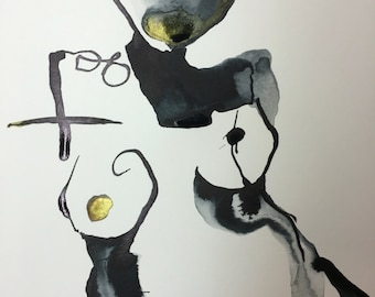 Walk this way --- contemporary ink painting