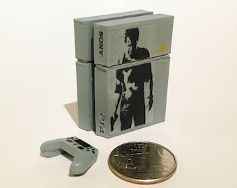 Mini Sony Playstation 4 Uncharted 4 Limited Edition - 3D Printed!