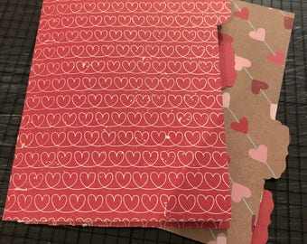 Valentines A6 Traveler's Notebook Dashboard Folders with Tabs fits Foxy Fix #3