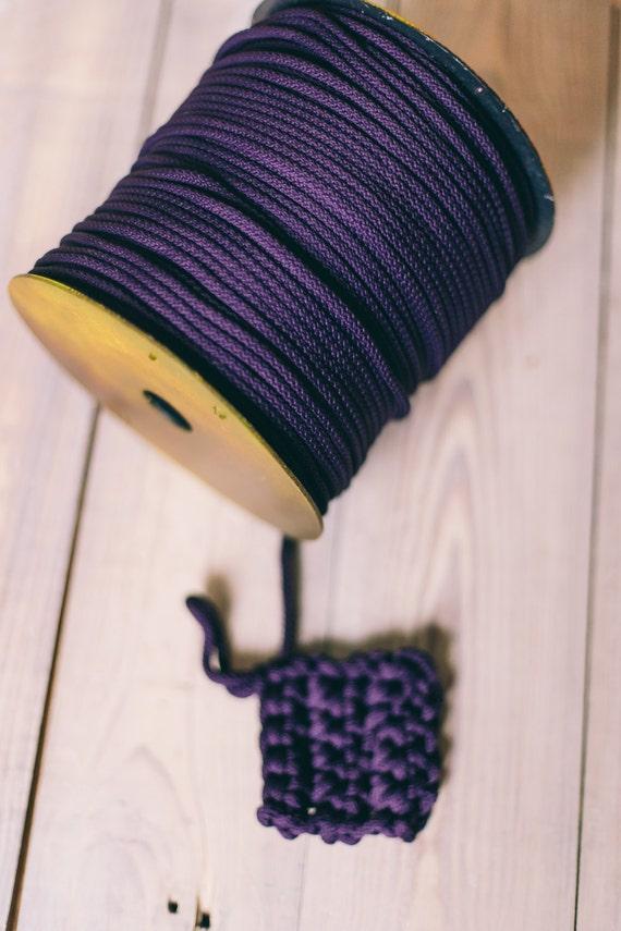 BLUE yarn, colored rope, polyester cord, chunky yarn, diy crafts, craft supplies, diy projects, craft yarn, macrame cord. 218 yards cord #24