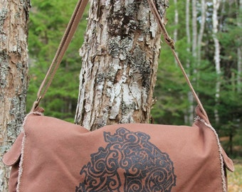MDI Tribal Tattoo Messenger Bag -  Screen Printed Original Design