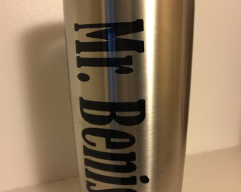 Name decal, yeti decal, personalized decal,