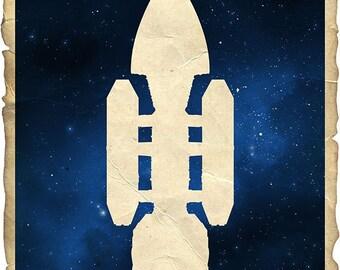 09-BSG Battlestar Galactica Poster Print