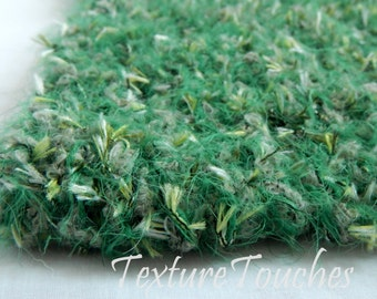 Green Textured Furry Baby Photo Prop in Mossy Trail colors