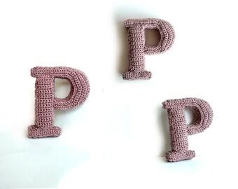 Letter P Crochet Pattern, 3D Alphabet crochet pattern, 3d words pattern, 3d letters pattern, words home deco, decorative letters crochet