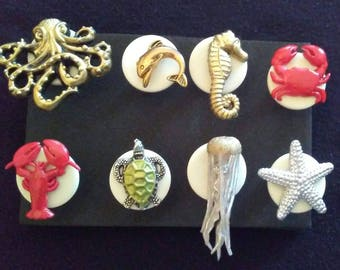 Ocean Creatures Push Pins