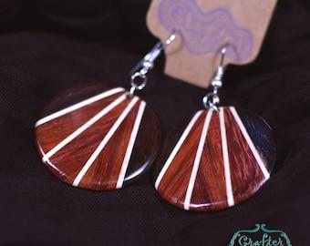 Circle Coconut Natural Eco Earrings - Geometric Jewellery