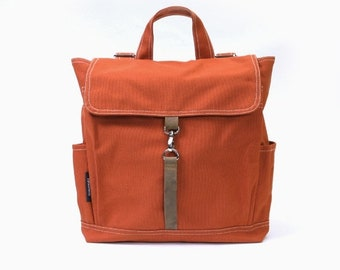 Mother s Day Big Sale KYLE // Burnt Orange / Lined with Beige / 096 // Ship in 3 days // Backpack / Diaper bag / Shoulder bag / Tote bag / P