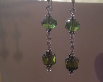 Evergreen Renaissance Queen Earrings