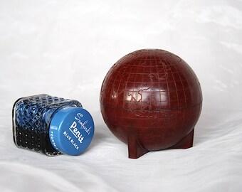 Vintage Globe Inkwell - World Globe Decor - Vintage Inkwell - Unique Office Decor - Sanford Globe Traveler - Graduation GIft - Vintage Globe