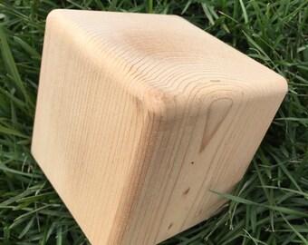 Premium blank cedar yard dice for Yardzee