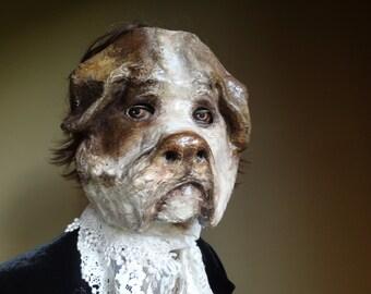 Handsome English Bulldog paper mache dog mask bulldog mask animal mask