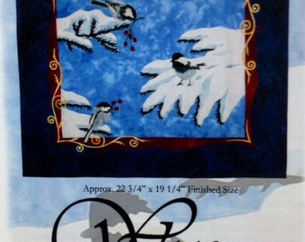 "CHICKADEES Art Quilt Pattern by Wildfire Designs Alaska/Dana Verrengia 22.75"" x 19.25"""