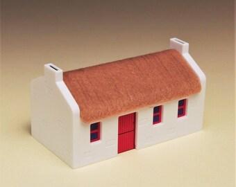 Irish thatched cottage.