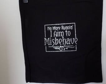 Handmade tote bag -Firefly/Serenity. No More Runnin' I aim to misbehave