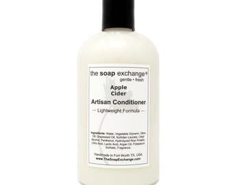 Apple Cider Natural Conditioner, Hair Care, Artisan Handmade, Sulfate Free, Paraben Free, The Soap Exchange