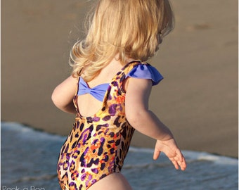 Sun n' Fun: Girls Swimsuit PDF Pattern, Girls Leotard PDF Pattern, Baby & Toddler Swimsuit Pattern