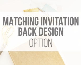 ADD ON: Matching Back Design to any Bohemian Woods Invitation Design