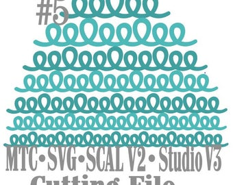 SVG Border Loopy bundle #5 Set of 7 Scrapbooking  MTC Silhouette Cricut SCAL Cutting File