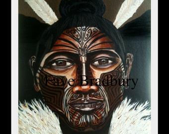 Small Maori:  Fine Art Limited Edition SMALL giclee print