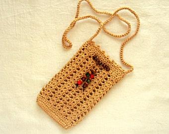 "Crochet mobile phone cover, Lacy crochet smart phone case, Crochet phone bag cover,3.5"" (9 cm) / 6"" (15 cm)"