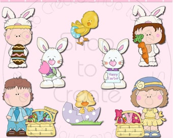 Happy Easter SEMI-EXCLUSIVE Clipart Collection - Immediate Download